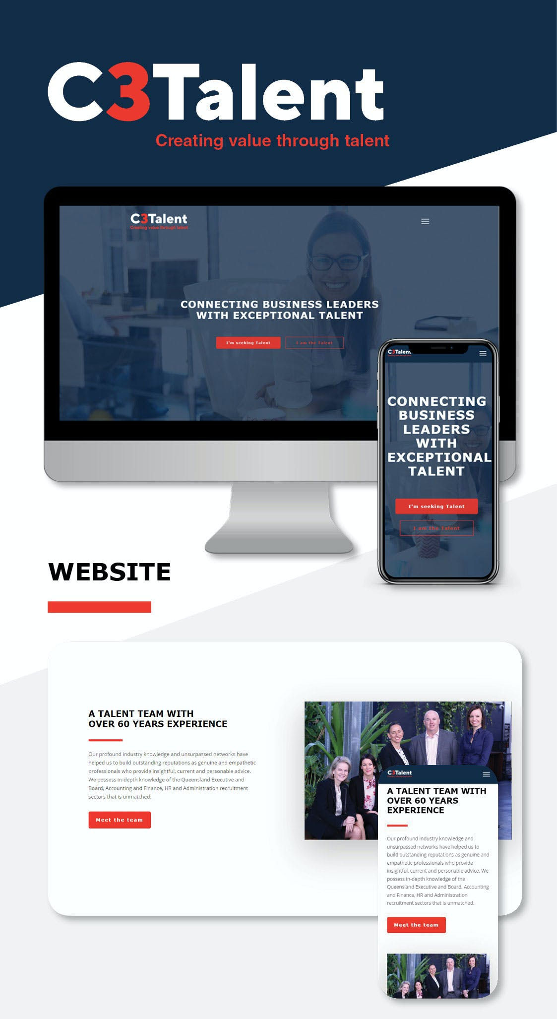 C3Talent Case Study Website
